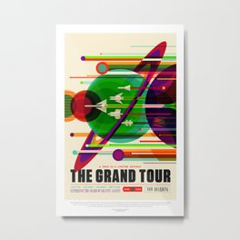 Nasa t-shirt. The Grand Tour poster. For space and science lovers. Metal Print