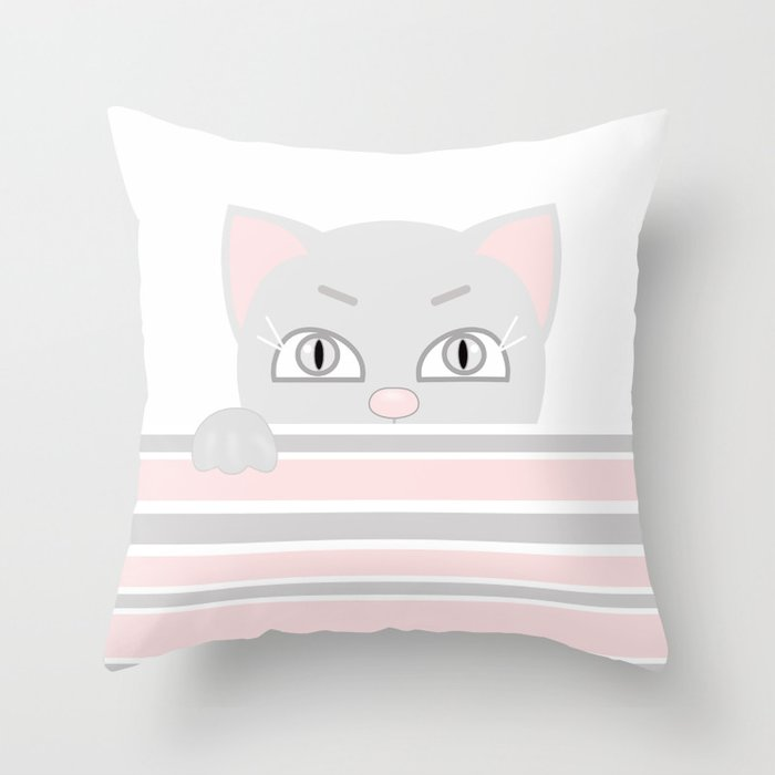 Small kitten. Throw Pillow
