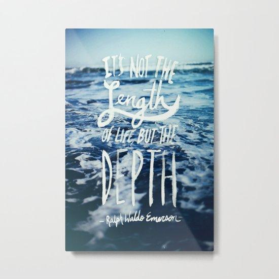 Depth x Ocean Metal Print