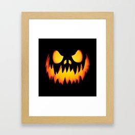 Evil Halloween pumpkin Framed Art Print