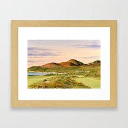 Royal County Down Golf Course Framed Art Print