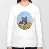 butterfly Long Sleeve T-shirts featuring Butterfly by Amy Fan