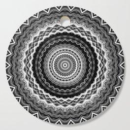 Black and White Mandala Cutting Board