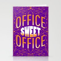 the office Stationery Cards featuring Office Sweet Office by Roberlan Borges