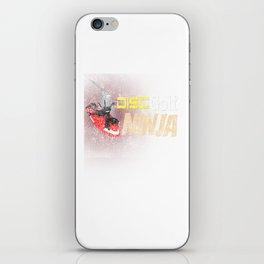 Disc Golf Ninja Funny Distressed iPhone Skin