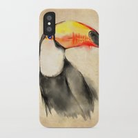toucan iPhone & iPod Cases featuring Toucan by akaori_art