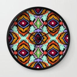 Tribal bright ornament Wall Clock
