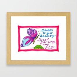 Awaken to Your Beauty Framed Art Print
