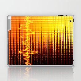 Sound wave orange Laptop & iPad Skin