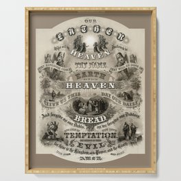 The Lords Prayer - Vintage Christian Art Serving Tray
