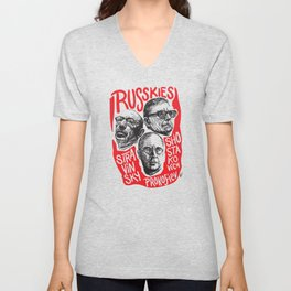 Russkies-Russian composers Unisex V-Neck