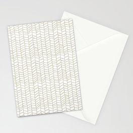 Sketched Herringbone in Tan Stationery Cards