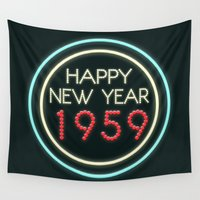 bioshock Wall Tapestries featuring Happy New Year 1959! by Talesanura