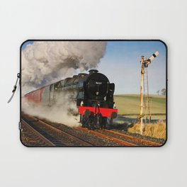 46115 Scots Guardsman Steaming Through Hellifield Laptop Sleeve