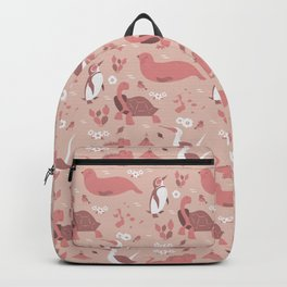 Galapagos Pattern Red Backpack