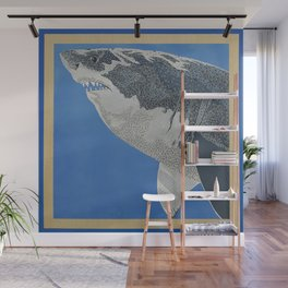 Fool Like You For Breakfast- Great White Shark Wall Mural
