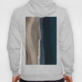 Footsteps during sunrise at a desert lake - Landscape Photography Hoody