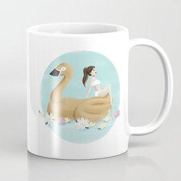 Summer Pool Party - Gold Swan Float A Coffee Mug