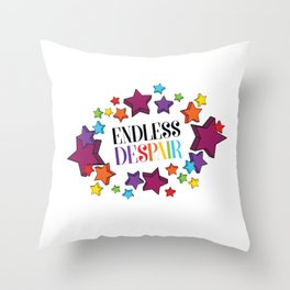 Endless Despair Throw Pillow