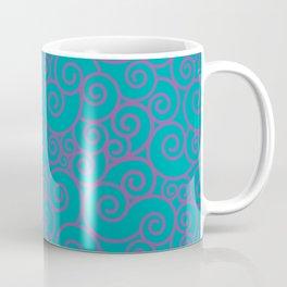 Vintage Green Spiral Coffee Mug