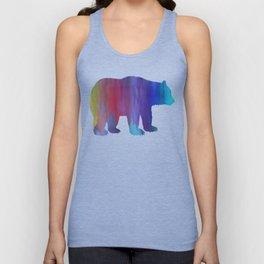 Rainbow Watercolor Dripping Bear Unisex Tank Top