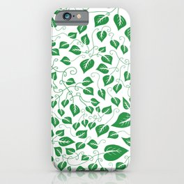 More Leaves Less Grieves Green Pattern iPhone Case
