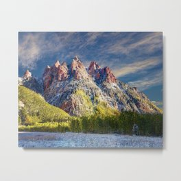 Colorado Rocky Mountain First Snow Maroon Bells Metal Print