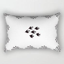 Folk art birds Rectangular Pillow