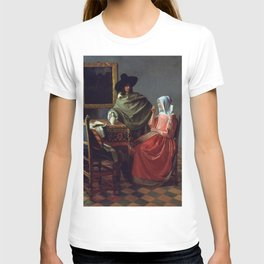 """Johannes Vermeer """"A Lady Drinking and a Gentleman"""" T-shirt"""