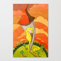 rapunzel Canvas Prints featuring Rapunzel by parisian samurai studio