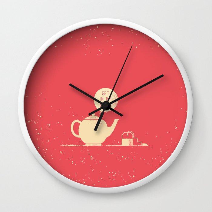 Tea Bag Teapot Wall Clock By Safwat Society6