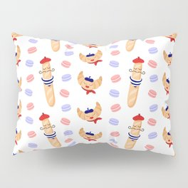 Madame Croissant and Monsieur Baguette Pillow Sham