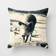 Some Pig Throw Pillow