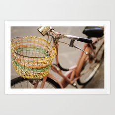 pink bicycle  - bicicletta rosa Art Print