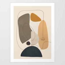 Abstract Minimal Shapes 26 Art Print