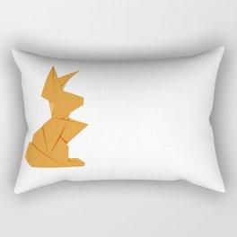Origami Hare Rectangular Pillow