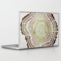 tree rings Laptop & iPad Skins featuring Tree Rings – Watercolor Ombre by Cat Coquillette