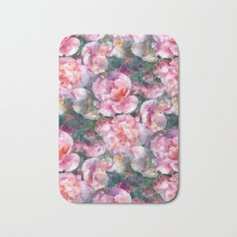 Pink floral pattern Bath Mat
