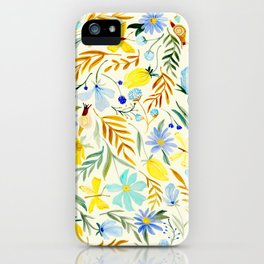 SUMMERTIME FLORAL iPhone Case