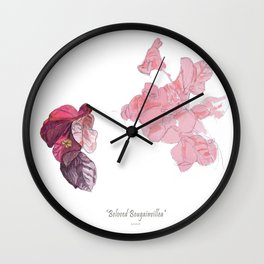 Beloved Bougainvillea Wall Clock