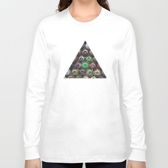 Graffiti Spray Cans - Geometric Photography Long Sleeve T-shirt