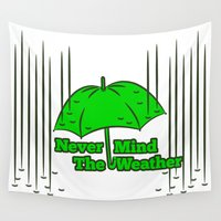 umbrella Wall Tapestries featuring Umbrella by mailboxdisco