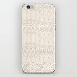 Cream and Coffee Chenille Digital Pattern iPhone Skin