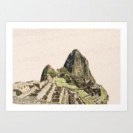 ArtWork Painting Machu Picchu Peru Paint Art Print