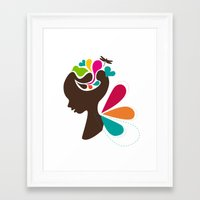 child Framed Art Prints featuring Child by Irmak Akcadogan
