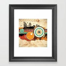Retro Mash Up. Framed Art Print