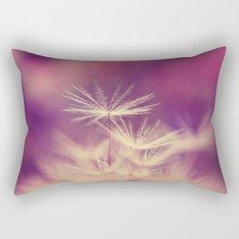 dandelion pink yellow Rectangular Pillow