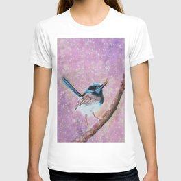 Australian Blue Wren Bird T-shirt