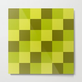 Marid - Colorful Decorative Abstract Art Checker Pattern Metal Print