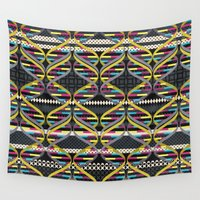 dna Wall Tapestries featuring Pattern DNA by Amanda Dilworth